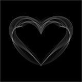 Realistic Smokey Heart Isolated on Black Royalty Free Stock Photos