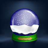 Realistic snow-globe Stock Photo