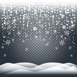 Realistic snow snowfall Royalty Free Stock Images