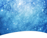 Realistic snowflake landscape with sparkle illustration Royalty Free Stock Photos