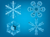 Realistic Snowflakes winter set Royalty Free Stock Image