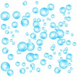 Realistic soap bubbles set isolated on the white background. vector Illustration. Realistic soap bubbles set isolated on the white background royalty free illustration