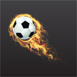 Realistic Soccer ball on fire Stock Photography