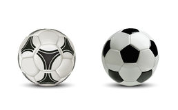 Realistic soccer ball or football ball. Isolated on white background. Stock Photo
