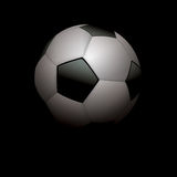 Realistic Soccer Ball Football on Black Illustration Stock Photos