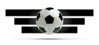 Realistic soccer ball or football ball on white background. 3d Style vector Ball. Stock Photo