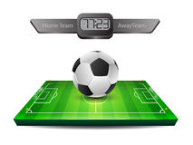 Realistic soccer ball and grass field Stock Image