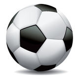 Realistic Soccer Ball on White Background. A realistic soccer ball illustration on white background. Vector EPS 10 available. EPS file contains transparencies vector illustration