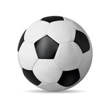 Realistic soccer ball  on white with shadow Royalty Free Stock Photo