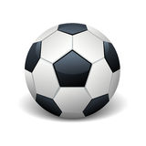 Realistic soccer ball  white vector illustration Stock Photography