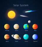 Realistic Solar System objects, vector Stock Photos
