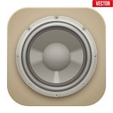 Realistic sound load Speaker icon.  Vector Royalty Free Stock Images