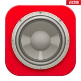 Realistic sound load Speaker icon.  Vector Royalty Free Stock Photography