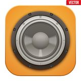 Realistic sound load Speaker icon.  Vector Royalty Free Stock Image