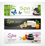 Realistic spa banners Royalty Free Stock Photography