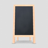 Realistic special menu announcement board icon. Vector clean restaurant outdoor blackboard background. Mockup of. Chalkboard for restaurant menu, isolated on Royalty Free Stock Photos