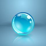 Realistic sphere or ball. Vector illustration. Stock Images