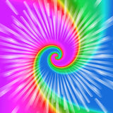 Realistic spiral tie-dye vector illustration Royalty Free Stock Photos