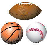 Realistic Sports Balls Royalty Free Stock Photo