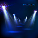 Realistic Spot Light Effect Royalty Free Stock Photo