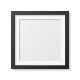 Realistic square black frame Royalty Free Stock Images