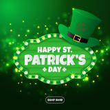 Realistic St. Patrick`s day background and banner Stock Images