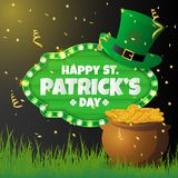 Realistic St. Patrick`s day background and banner Royalty Free Stock Photos
