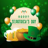 Realistic St. Patrick`s day greeting card background and banner Stock Photo