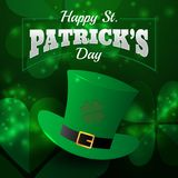 Realistic St. Patrick`s day greeting card background and banner Stock Image