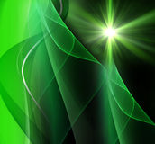 Realistic star burst with flare green background Royalty Free Stock Images