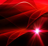 Realistic star burst with flare red background Royalty Free Stock Image