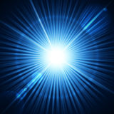 Realistic star burst with flare. Stock Images