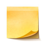 Realistic sticky note on white background Royalty Free Stock Images