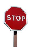 Realistic stop sign Stock Image