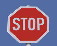 Realistic stop sign illustration. Royalty Free Stock Images