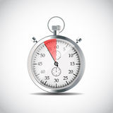 Realistic Stopwatch Vector Illustraion Royalty Free Stock Images
