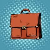 Realistic stylish leather business portfolio bag Stock Photo