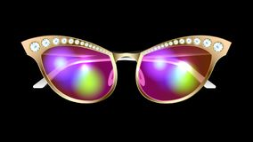 Free Realistic Sunglasses With Diamonds Isolated. Stock Image - 156709731