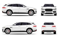 Realistic SUV car. Front view; side view; back view Stock Images