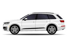 Realistic SUV car. Side view royalty free illustration