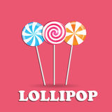 Realistic Sweet Lollipop Candy Background. Vector Illustration stock illustration