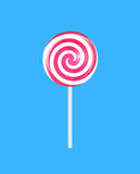 Realistic Sweet Lollipop Candy Background. Vector Illustration. EPS10 Royalty Free Stock Photos