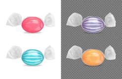 Realistic Sweets Package  Set Royalty Free Illustration