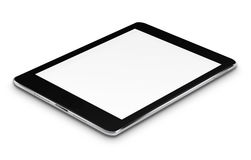 Realistic tablet computer with blank screen. Stock Image