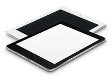 Realistic tablet computers with black and blank screens. Royalty Free Stock Photography