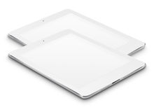 Realistic tablet computers with blank screens. Royalty Free Stock Image