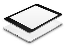 Realistic tablet computers with blank screens. Royalty Free Stock Photography