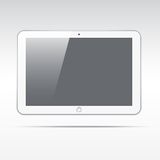 Realistic tablet isolated on light background Stock Photos