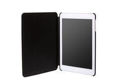 Realistic tablet pc computer with blank screen. Royalty Free Stock Photography