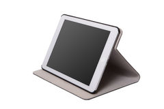 Realistic tablet pc computer with blank screen. Royalty Free Stock Photo
